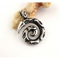 Stainless steel pendant as a spiral