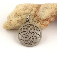 Stainless steel round pendant