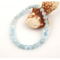 Faceted Aquqmqrine bracelet