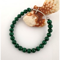 Bracelet-Spring made of malachite
