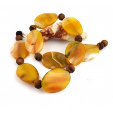 """Necklace """"Herbst"""" - made of beautiful agate and matte tiger eye."""