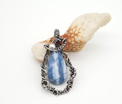Blue-opal-as-silver-pendant